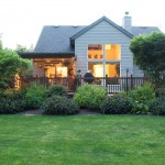 A home with well-landscaped yard