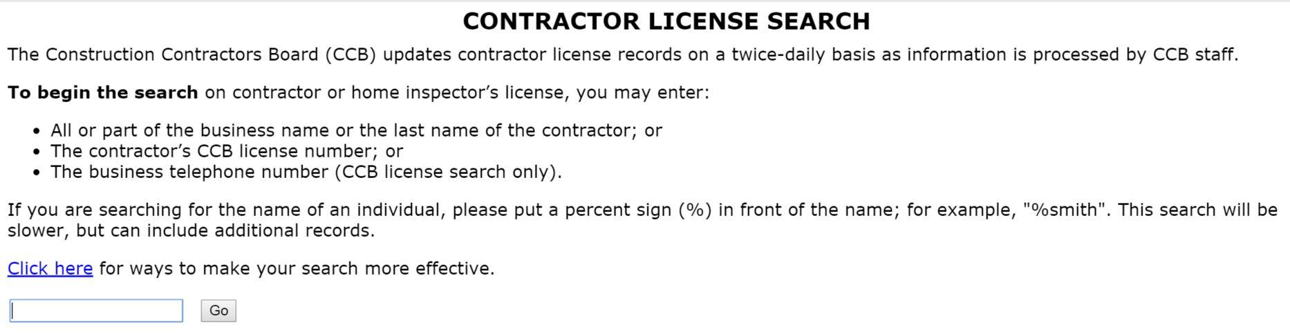 tree care contractor license search